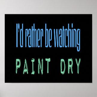 Estaría mirando bastante la pintura seca - negro póster