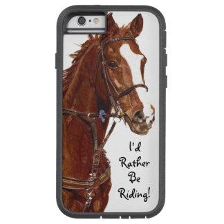 ¡Estaría montando bastante! Caso del caballo Funda Para iPhone 6 Tough Xtreme