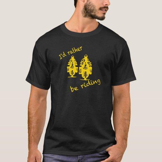 Estaría montando bastante - impresión amarilla camiseta