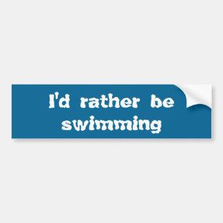 Estaría nadando bastante pegatina para coche