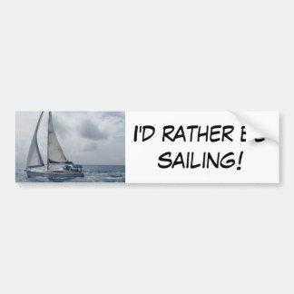 Estaría navegando bastante pegatina para coche