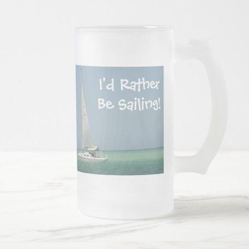 ¡Estaría navegando bastante! Taza