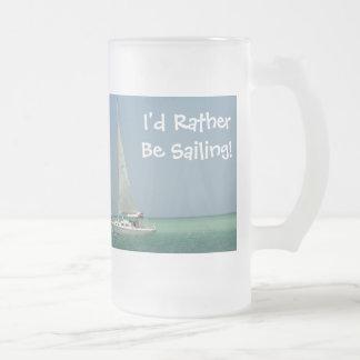 ¡Estaría navegando bastante! Taza De Cristal