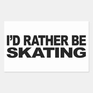 Estaría patinando bastante pegatina rectangular