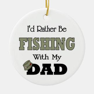 Estaría pescando bastante con el papá ornamento para arbol de navidad