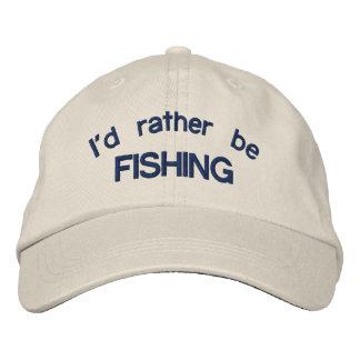 Estaría pescando bastante el casquillo ajustable gorra de beisbol bordada