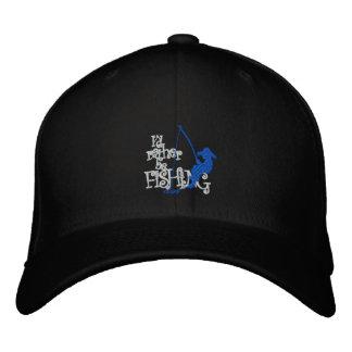 Estaría pescando bastante el casquillo bordado gorra de béisbol