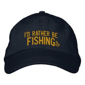 Estaría pescando bastante gorra de béisbol bordada