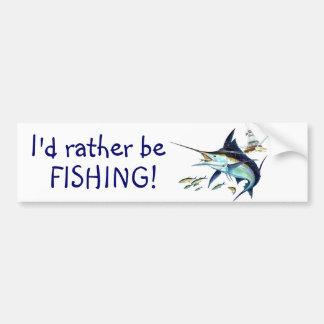 ¡Estaría pescando bastante! Pegatina Para Coche