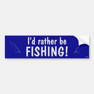 ¡Estaría pescando bastante! Pegatina De Parachoque