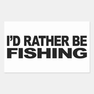Estaría pescando bastante pegatina rectangular