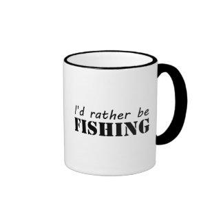 Estaría pescando bastante taza de dos colores