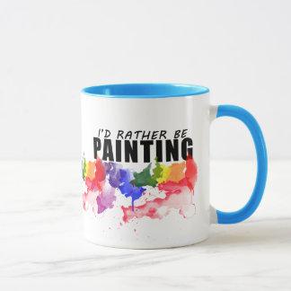 Estaría pintando bastante la taza del artista de