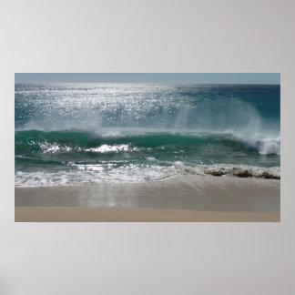 Estaría practicando surf bastante póster