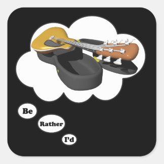 estaría tocando bastante la guitarra 6 pegatina cuadrada