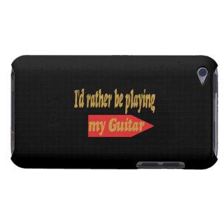 Estaría tocando bastante mi guitarra - fondo negro Case-Mate iPod touch protectores