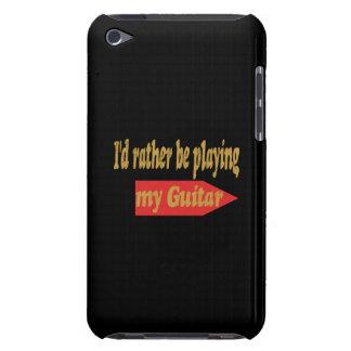 Estaría tocando bastante mi guitarra - fondo negro iPod touch Case-Mate carcasas