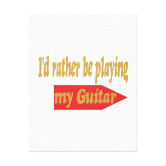 Estaría tocando bastante mi guitarra lona estirada galerías