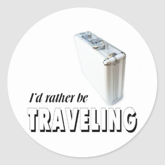 Estaría viajando bastante pegatina redonda