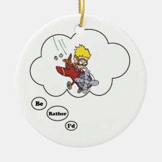 Estaría volando bastante ornamento para arbol de navidad