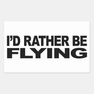 Estaría volando bastante pegatina rectangular