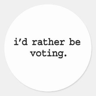 estaría votando bastante pegatina redonda