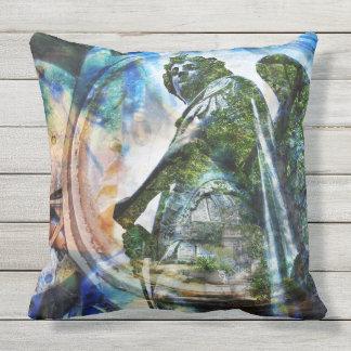 Estatua clásica azul del ángel - almohada al aire