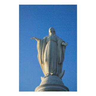 estatua de 118 pies del Virgen María en San Impresión Fotográfica