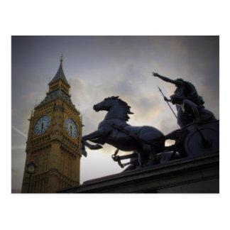 Estatua de Boadicea - torre de Elizabeth - postal