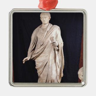 Estatua de César Augustus Adorno Navideño Cuadrado De Metal