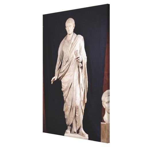 Estatua de César Augustus Impresión De Lienzo