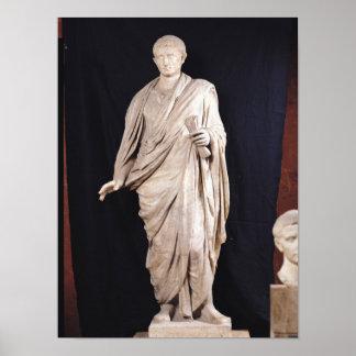 Estatua de César Augustus Póster