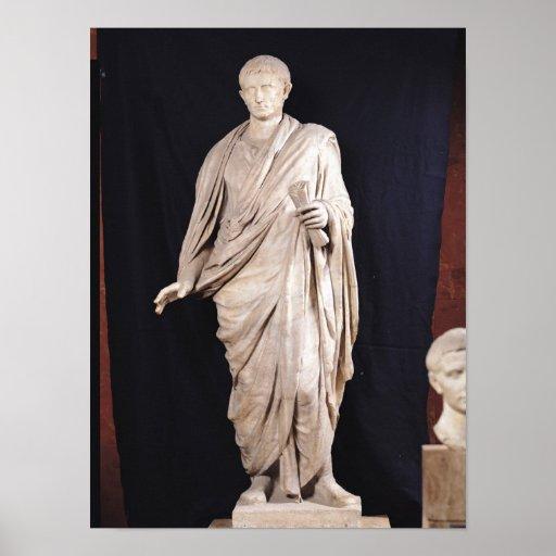 Estatua de César Augustus Impresiones
