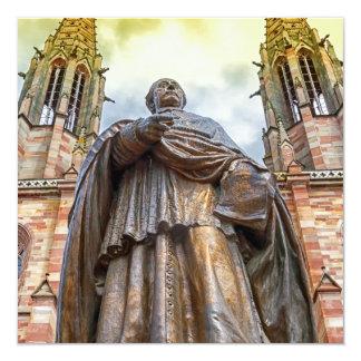 Estatua de Charles-Emilio Freppel, Obernai, Invitación 13,3 Cm X 13,3cm