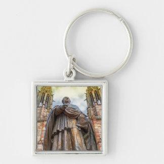 Estatua de Charles-Emilio Freppel, Obernai, Llavero Cuadrado Plateado