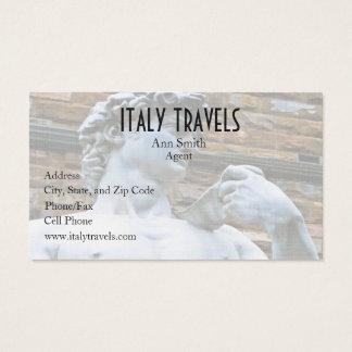 Estatua de Florencia de David con cita del amor Tarjeta De Negocios