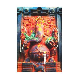 Estatua de Ganesha de dios Lona Envuelta Para Galerías