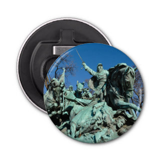 Estatua de la guerra civil en Washington DC Abrebotellas Redondo