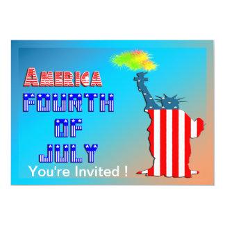 Estatua de la libertad 4ta de la invitación de