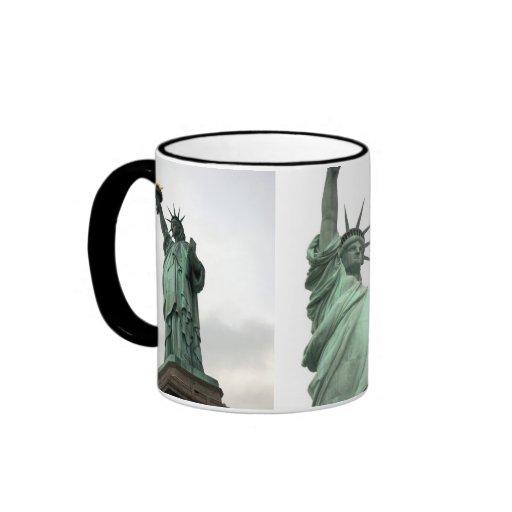 Estatua de la libertad New York City 3 fotos Tazas