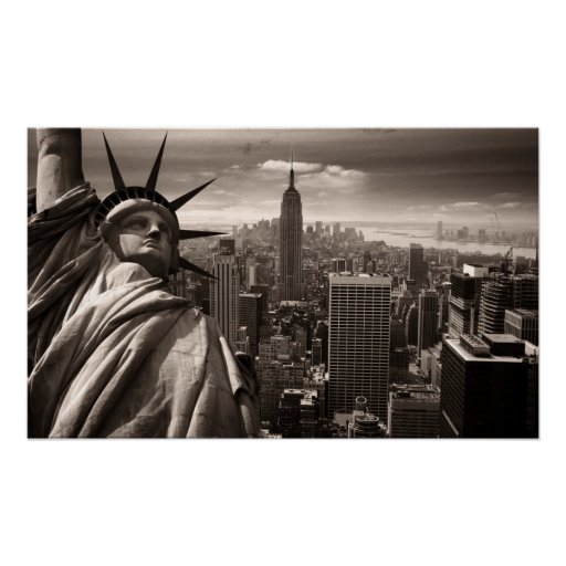 Estatua de la libertad, Nueva York, poster