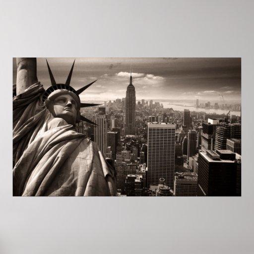 Estatua de la libertad, Nueva York, poster Póster