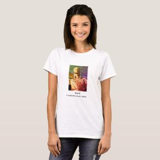 Estatua de la mujer del nativo americano camiseta