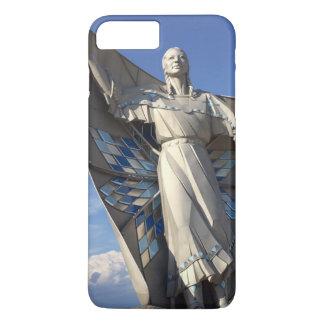 Estatua de la mujer del nativo americano funda para iPhone 8 plus/7 plus