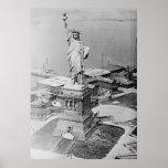 Estatua de la opinión aérea 1920 de la libertad impresiones