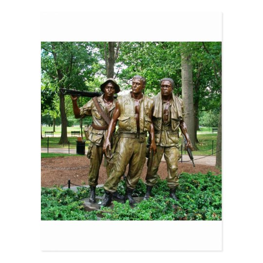 Estatua de los tres soldados de los militares el | postal