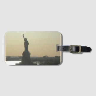 Estatua de Nueva York de la etiqueta del equipaje