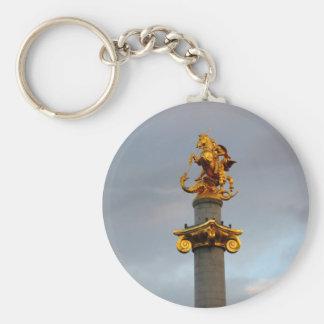 Estatua de oro de San Jorge, la República de Georg Llavero Redondo Tipo Chapa