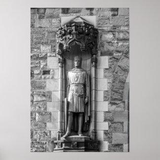 Estatua de Roberto el Bruce en el castillo de Póster