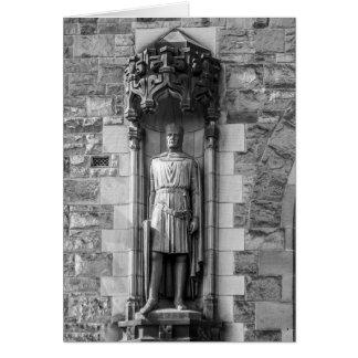 Estatua de Roberto el Bruce en el castillo de Tarjeta De Felicitación